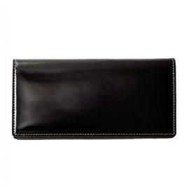 ファスナー付通しマチ長財布