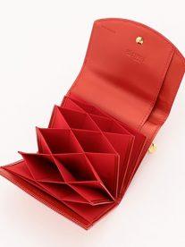 ポン|コンパクトかぶせハニーセル二つ折財布